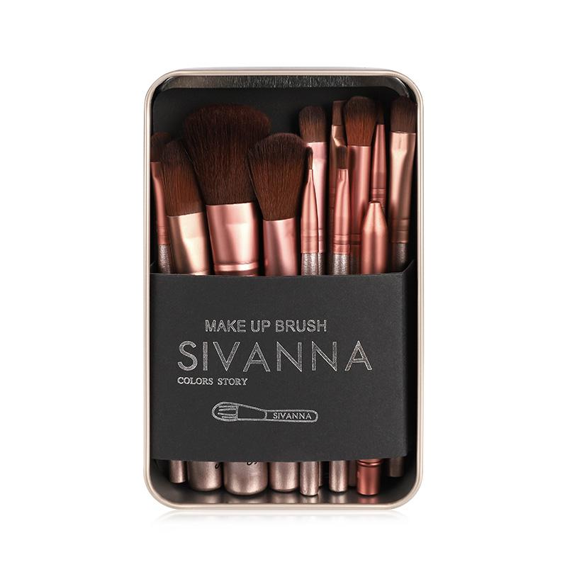 泰国Sivanna思薇娜化妆刷子套装12件装